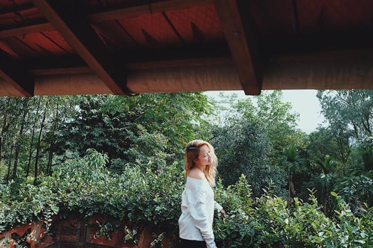Tựa mình ngắm cảnh giữa ban công ngập nắng và những bức tường dây leo xanh rì – Ảnh: sưu tầm