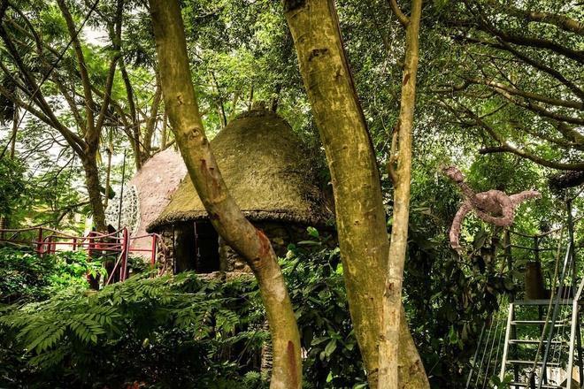 Những căn nhà lấp ló sau hàng cây – Ảnh: sưu tầm