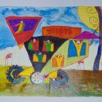 Ngộ nghĩnh những bức tranh trẻ em vẽ về giao thông