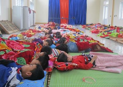 Một kiểu phòng ngủ ở trường tiểu học