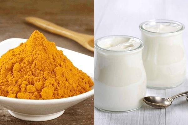 Sữa chua và bột nghệ tốt cho sức khỏe và làm đẹp