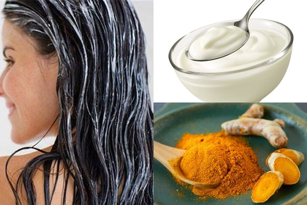 Tóc chắc khỏe hơn với hỗn hợp bột nghệ và sữa chua