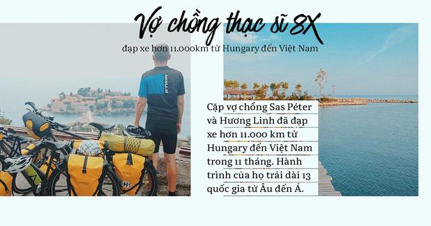 Đôi vợ chồng Việt - Hung đạp xe hơn 11.000km từ Hungary về Việt Nam - Ảnh 1.