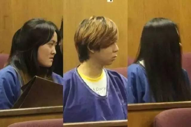 Hình ảnh của 3 tội phạm sinh viên, từ trái qua: Địch Vân Giao, Chương Hàm Lỗi, Dương Ngọc Hạm.