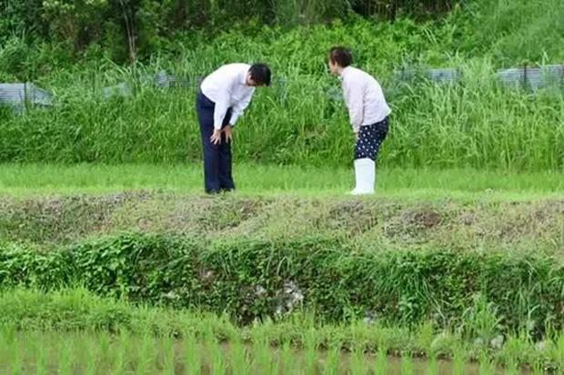 Nhân viên đoàn hộ tống Thủ tướng Nhật Bản cúi đầu chào và cảm ơn người đi xe đạp vì đã nhường đường - Ảnh 3.