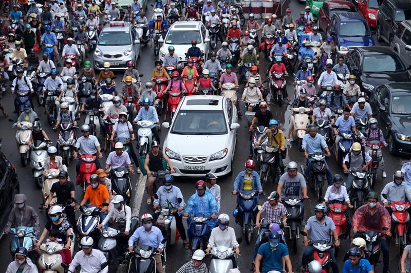 UBND thành phố Hà Nội chính thức thông qua đề án tăng cường quản lý phương tiện giao thông đường bộ nhằm giảm ùn tắc giao thông và ô nhiễm môi trường. Ảnh minh họa: Internet