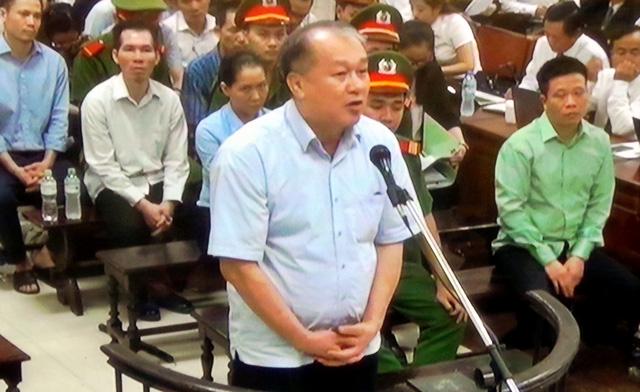 Bị cáo Phạm Công Danh tại phiên xử chiều 29/8.
