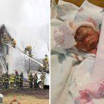 Cháy nhà, bà mẹ tuyệt vọng gọi 911 rồi ném con 12 ngày tuổi ra ngoài cửa sổ