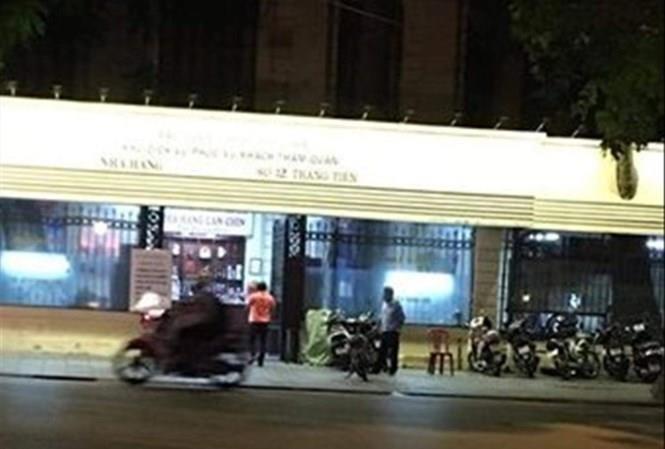 Bảo tàng Lịch sử Quốc gia hiện đang cho quán bia Lan Chín thuê mặt bằng kinh doanh. Ảnh: LĐO.