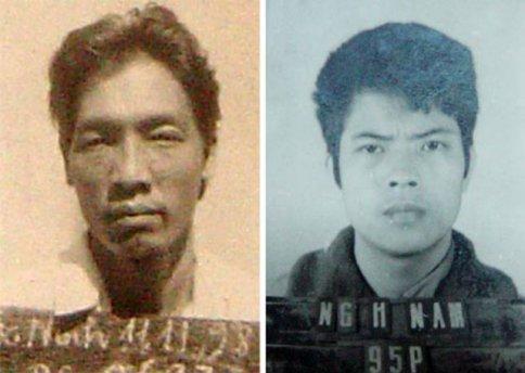 Nguyễn Văn Thân, tức Thân rau muống (ảnh trái) và Nguyễn Hải Nam, tức Nam cu chính (ảnh phải) - từng là 2 trường hợp tử tù vượt ngục gây rúng động gần 20 năm trước.