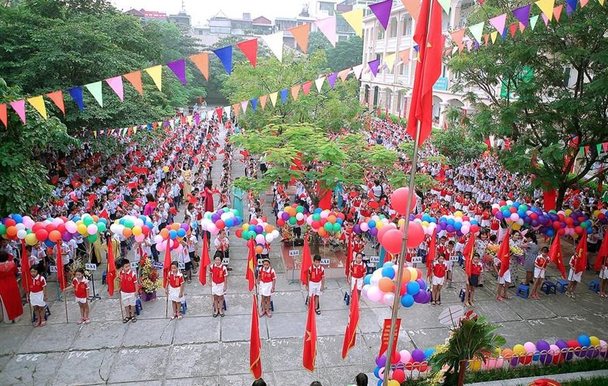Lễ khai giảng năm học mới (ảnh minh hoạ). Nguồn: pgdthanhxuan