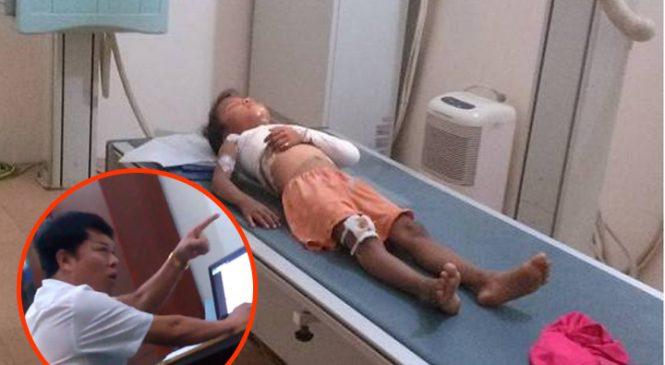 Học sinh bị cổng trường đè gãy chân, hiệu trưởng vô cảm mặc cả: 'Thầy cô giáo ốm, phụ huynh có quan tâm không?'