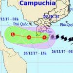 Bão Tembin suy yếu thành áp thấp nhiệt đới