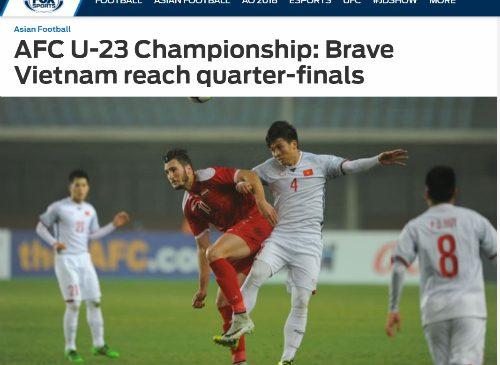 Báo chí châu lục khen Việt Nam 'quả cảm' ở giải U23 châu Á