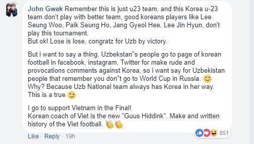 Fan Hàn, Nhật bùng lửa giận, nhờ U23 Việt Nam phục thù Uzbekistan - Ảnh 2.