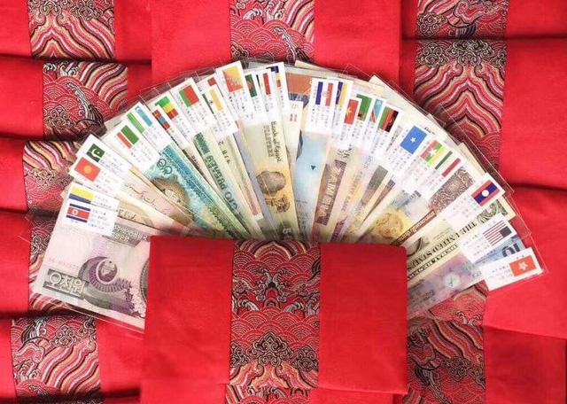 Bộ sưu tập 52 tờ tiền thật của 28 quốc gia trên thế giới đang được rao bán tràn lan trên mạng xã hội