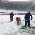 Mưa tuyết dày đặc, trận chung kết U23 Việt Nam – U23 Uzbekistan có nguy cơ bị hoãn