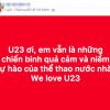 Mạng xã hội ngập tràn lời cảm ơn thầy trò đội tuyển U23 Việt Nam