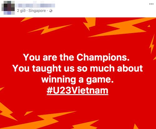 Các em là những nhà vô địch. Các em đã dạy cho tôi rất nhiều về việcchiến thắng trong một cuộc chơi, một người hâm mộ bày tỏ cảm xúc.