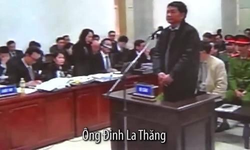 Ông Đinh La Thăng trả lời tại tòa chiều 10/1