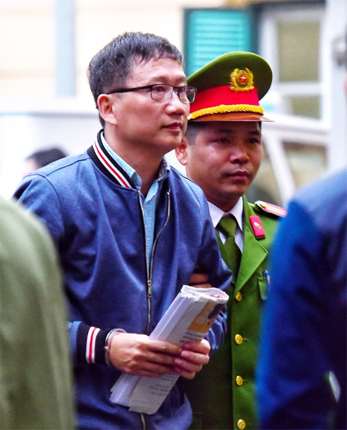 Ông Trịnh Xuân Thanh tại tòa án Hà Nội. Ảnh: Giang Huy