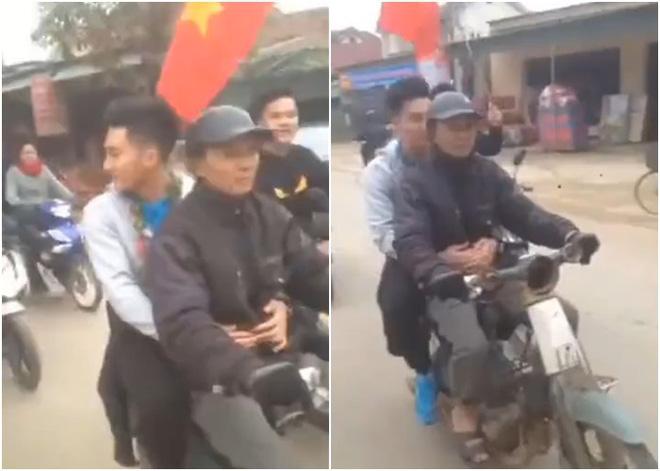 Được ô tô đưa đón nhưng khi thấy bố chạy xe máy cũ mèm theo, thủ môn U23 Việt Nam đã lao ngay xuống để được đi với bố về nhà - Ảnh 2.