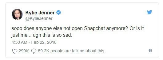 Vốn hóa thị trường của Snapchat bị thổi bay 1,3 tỷ USD chỉ vì 1 dòng chia sẻ của hot girl trên Twitter - Ảnh 1.