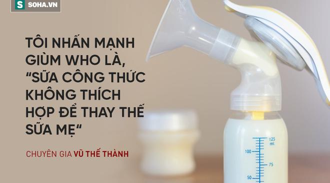 Chuyên gia Vũ Thế Thành: Sữa mẹ tốt nhất cho em bé, sữa bò tốt nhất cho… con bê!