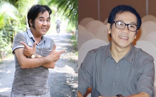 Nghệ sĩ Bạch Long (trái) là anh trai ruột của nghệ sĩ Thành Lộc (phải)