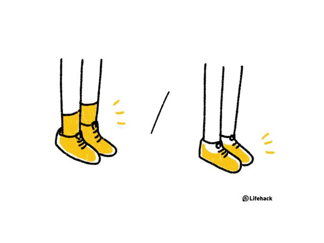 Đi tất phù hợp với giày sẽ giúp bạn cảm thấy thoải mái hơn.