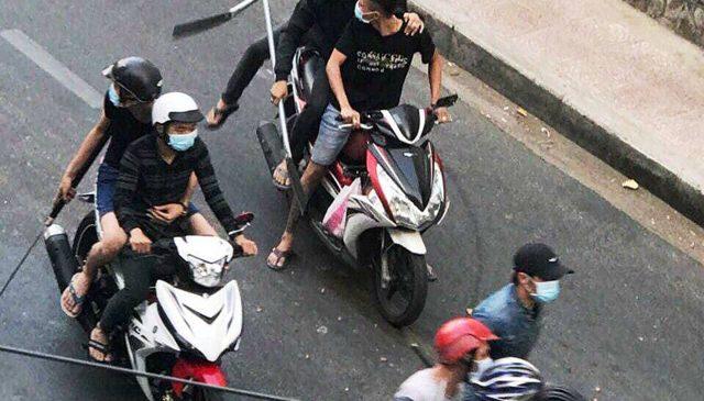 Giang hồ Hải Phòng mâu thuẫn, hỗn chiến trên đường phố Sài Gòn