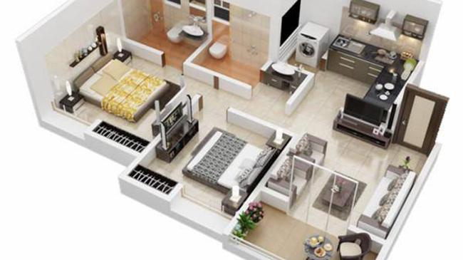 Những mẫu nhà 1 tầng 2 phòng ngủ đẹp chỉ 300 – 500 triệu cho vợ chồng trẻ ít tiền
