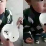 Trung Quốc: Dân mạng bức xúc xem video mẹ bón 'nòng nọc' cho con