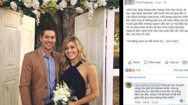 Lời nhắn nhủ của cô gái 27 tuổi qua đời vì ung thư làm dậy sóng MXH khiến tất cả giật mình: Hãy bỏ điện thoại xuống